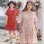 Preorder ชุดเดรสลูกไม้ไซส์ใหญ่ สีชมพู แดง XL-4XL thumbnail 1
