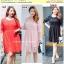 Preorder ชุดเดรสลูกไม้ไซส์ใหญ่ สีแดง ชมพู ดำ XL-4XL thumbnail 1