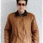 ((ขายแล้วครับ))cm-97 เสื้อแจ๊คเก็ตกันหนาวผ้าชามัวร์สีน้ำตาล รอบอก46 thumbnail 1