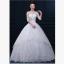 (Pre-Order) ชุดแต่งงาน <ไหล่ปาด แขนยาว> รหัสสินค้า WDL0748 thumbnail 1