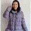 ((ขายแล้วครับ))((คุณรัตนาจองครับ))ca-2553 เสื้อโค้ทกันหนาวผ้าร่มขนเป็ดสีเทาคราม รอบอก42 thumbnail 1