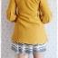 ((ขายแล้วครับ))((จองแล้วครับ))ca-2673 เสื้อโค้ทกันหนาวผ้าวูลสีเหลือง รอบอก32 thumbnail 2