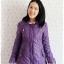 ((ขายแล้วครับ))((จองแล้วครับ))ca-2665 เสื้อโค้ทกันหนาวผ้าร่มสีม่วง รอบอก36 thumbnail 1
