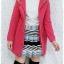 ((ขายแล้วครับ))((คุณBowvyจองครับ))ca-2627 เสื้อโค้ทกันหนาวผ้าวูลสีชมพู รอบอก33 thumbnail 3