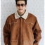 ((ขายแล้วครับ))((คุณIceจองครับ))cm-99 เสื้อแจ๊คเก็ตกันหนาวผ้าชามัวร์สีน้ำตาล รอบอก56 thumbnail 1