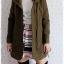 ((ขายแล้วครับ))((คุณMeeจองครับ))ca-2703 เสื้อโค้ทกันหนาวผ้าวูลสีเขียวขี้ม้า รอบอก.36 thumbnail 3