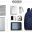 """กระเป๋าเป้สะพาย ยี่ห้อ Superlover สไตส์หญิงเกาหลี มีช่องใส่ Notebook14"""" และกระเป๋าเป้ใบเล็ก สีน้ำเงินดอกไม้ (Pre-Order) thumbnail 4"""