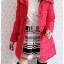 ((ขายแล้วครับ))((คุณSomitaจองครับ))ca-2688 เสื้อโค้ทกันหนาวผ้าร่มขนเป็ดสีแดง รอบอก38 thumbnail 3