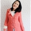 ((ขายแล้วครับ))((ขายแล้วครับ))((คุณKatจองครับ))ca-2675 เสื้อโค้ทกันหนาวผ้าวูลสีชมพู รอบอก33 thumbnail 1