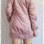 ((ขายแล้วครับ))ca-2630 เสื้อโค้ทกันหนาวผ้าร่มสีชมพูม่วง รอบอก36 thumbnail 2