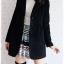 ((ขายแล้วครับ))((คุณMeeจองครับ))ca-2676 เสื้อโค้ทกันหนาวผ้าวูลสีดำ รอบอก36 thumbnail 3