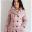 ((ขายแล้วครับ))ca-2630 เสื้อโค้ทกันหนาวผ้าร่มสีชมพูม่วง รอบอก36 thumbnail 1