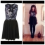 Topshop Panther Face Skater Dress Size uk12 thumbnail 1