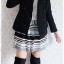 ((ขายแล้วครับ))((คุณKhawจองครับ))ca-2582 เสื้อโค้ทกันหนาวผ้าวูลสีดำ รอบอก34 thumbnail 3