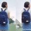 """กระเป๋าเป้สะพาย ยี่ห้อ Superlover สไตส์หญิงเกาหลี มีช่องใส่ Notebook14"""" และกระเป๋าเป้ใบเล็ก สีน้ำเงินดอกไม้ (Pre-Order) thumbnail 6"""