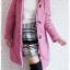 ((ขายแล้วครับ))((คุณNudchanaddaจองครับ))ca-2580 เสื้อโค้ทกันหนาวผ้าร่มสีม่วง รอบอก38 thumbnail 3