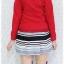 ((ขายแล้วครับ))((คุณปนัดดาจองครับ))ca-2617 เสื้อโค้ทกันหนาวผ้าวูลสีแดง รอบอก33 thumbnail 2
