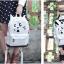 กระเป๋าเป้ยี่ห้อ Super Lover Orecchiette เกาหลีการ์ตูนสไตล์กระเป๋าเป้สะพายหลังน่ารัก (Preorder) ใบเล็กสีขาว thumbnail 8