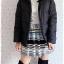 ((ขายแล้วครับ))((คุณพิกุลจองครับ))ca-2670 เสื้อโค้ทกันหนาวผ้าร่มขนเป็ดสีดำ รอบอก42 thumbnail 3