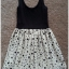 Topshop ladies Black & Cream Polka Dot Summer dress Size Uk10 thumbnail 2
