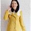 ((ขายแล้วครับ))((คุณPumpuiจองครับ))ca-2677 เสื้อโค้ทกันหนาวผ้าวูลสีเหลือง รอบอก36 thumbnail 1