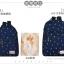 """กระเป๋าเป้สะพาย ยี่ห้อ Superlover สไตส์หญิงเกาหลี มีช่องใส่ Notebook14"""" และกระเป๋าเป้ใบเล็ก สีน้ำเงินดอกไม้ (Pre-Order) thumbnail 22"""