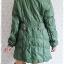((ขายแล้วครับ))((จองแล้วครับ))ca-2578 เสื้อโค้ทกันหนาวผ้าร่มสีเขียว รอบอก42 thumbnail 2