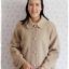 ((ขายแล้วครับ))ca-2698 เสื้อโค้ทกันหนาวผ้าวูลสีเบส รอบอก44 thumbnail 1