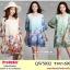 Preorder เดรสผ้าชีฟองไซส์ใหญ่ สีส้ม ฟ้า เขียว 3XL-6XL thumbnail 1