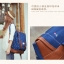 """กระเป๋าเป้สะพาย ยี่ห้อ Superlover สไตส์ญี่ปุ่น มีช่องใส่ Notebook14"""" สีน้ำเงินดอกไม้ (Pre-Order) thumbnail 16"""