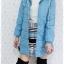 ((ขายแล้วครับ))((คุณNudchanaddaจองครับ))ca-2613 เสื้อโค้ทกันหนาวผ้าร่มสีฟ้า รอบอก38 thumbnail 3