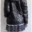 ((ขายแล้วครับ))((คุณNingจองครับ))ca-2554 เสื้อโค้ทกันหนาวผ้าร่มสีดำ รอบอก46 thumbnail 2