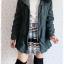 ((ขายแล้วครับ))((คุณแน่งน้อยจองครับ))ca-2666 เสื้อโค้ทกันหนาวผ้าร่มสีเขียว รอบอก40 thumbnail 3