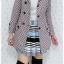 ((ขายแล้วครับ))((คุณMeemeeจองครับ))ca-2626 เสื้อโค้ทกันหนาวผ้าถักลายชมพูเทา รอบอก34 thumbnail 3