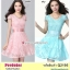 Preorder เดรสผ้าลูกไม้ใหญ่ สีชมพู เขียว XL-4XL thumbnail 1
