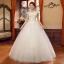 (Pre-Order) ชุดแต่งงานคนอ้วน <ไหล่ปาด> รหัสสินค้า PSWDL0044 thumbnail 1