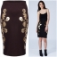 Rare london Foil Print Pencil Skirt Size Uk10 thumbnail 1