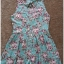 Paprika Vintage Floral Playsuit size Uk10 thumbnail 4