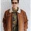 ((ขายแล้วครับ))((คุณIceจองครับ))cm-99 เสื้อแจ๊คเก็ตกันหนาวผ้าชามัวร์สีน้ำตาล รอบอก56 thumbnail 3