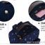 """กระเป๋าเป้สะพาย ยี่ห้อ Superlover สไตส์หญิงเกาหลี มีช่องใส่ Notebook14"""" และกระเป๋าเป้ใบเล็ก สีน้ำเงินดอกไม้ (Pre-Order) thumbnail 18"""