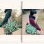 กระเป๋าสะพายยี่ห้อ Super Lover สไตล์ญี่ปุ่นลายสีขาวเขียว (Pre-Order) thumbnail 6