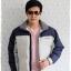 ((ขายแล้วครับ))((จองแล้วครับ))cm-104 เสื้อแจ๊คเก็ตกันหนาวผ้าร่มสีครีม รอบอก50 thumbnail 3