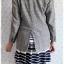 ((ขายแล้วครับ))((คุณKanchanaจองครับ))ca-2559 เสื้อโค้ทกันหนาวผ้าถักสีเทา รอบอก36 thumbnail 2
