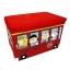 กล่องเก็บของนั่งได้ Snoopy สีแดง thumbnail 1