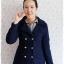 ((ขายแล้วครับ))((คุณGingจองครับ))ca-2709 เสื้อโค้ทกันหนาวผ้าวูลสีกรมท่า รอบอก34 thumbnail 1