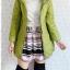 ((ขายแล้วครับ))((จองแล้วครับ))ca-2634 เสื้อโค้ทกันหนาวผ้าร่มสีเขียว รอบอก36 thumbnail 3