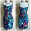 Lipsy Neon Tribal Bandeau Dress Size uk14 thumbnail 3