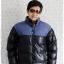((ขายแล้วครับ))cm-105 เสื้อแจ๊คเก็ตกันหนาวผ้าร่มสีดำ รอบอก46 thumbnail 1