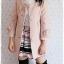 ((ขายแล้วครับ))((จองแล้วครับ))ca-2696 เสื้อโค้ทกันหนาวผ้าวูลสีชมพูหม่น รอบอก34 thumbnail 3