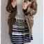 ((คุณohiaumจองครับ)) ca-2549 เสื้อโค้ทกันหนาวผ้าร่มสีน้ำตาลขี้ม้า รอบอก38 thumbnail 3